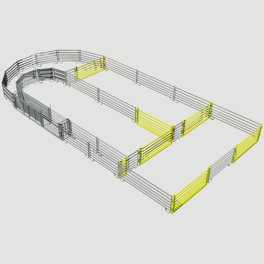 YARD SYSYTEMS SEMI PERMANENT OVAL RAIL