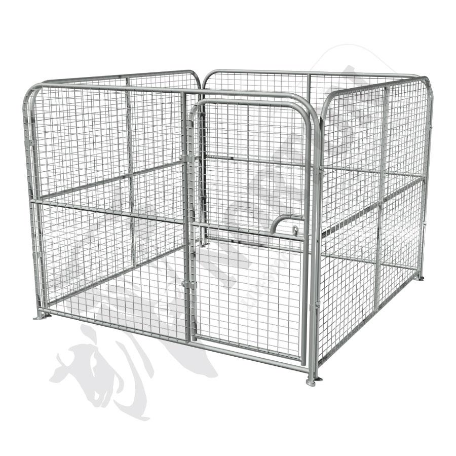 dog-pens-galvanised-mesh-complete